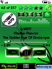 Green Mood_ skin for PowerMp3